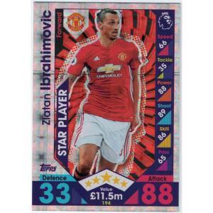 Zlatan Ibrahimovic Star Player, 2016-17 Topps Match Attax Premier League