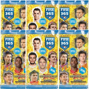 6 Packs Nordic Edition Panini Adrenalyn XL FIFA 365 2017-18