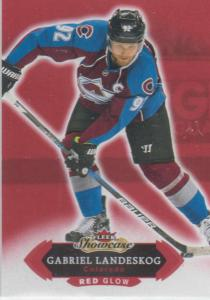 Gabriel Landeskog - 2016-17 Fleer Showcase Red Glow #26