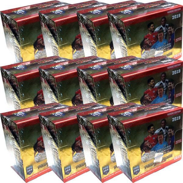 1 Case (12 lådor = 600 Pack) Nordic Edition Panini Adrenalyn XL FIFA 365 2018-19