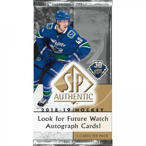 1 Pack 2018-19 Upper Deck SP Authentic