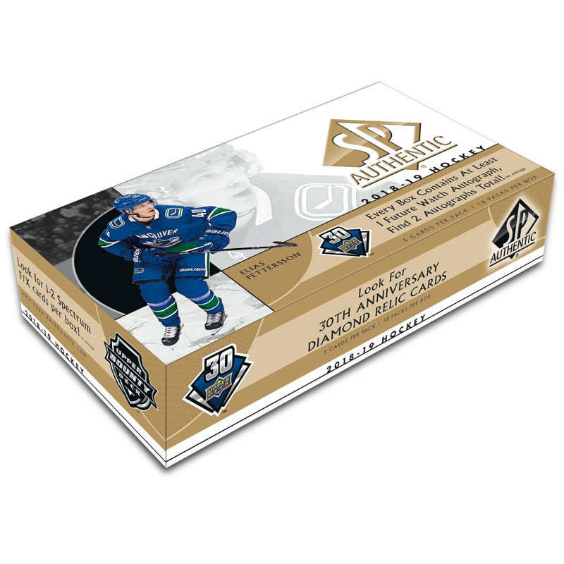 Hel Box 2018-19 Upper Deck SP Authentic