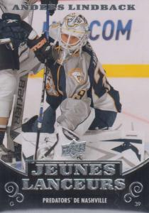 Anders Lindbäck - 2010-11 Upper Deck French #234 Young Guns RC