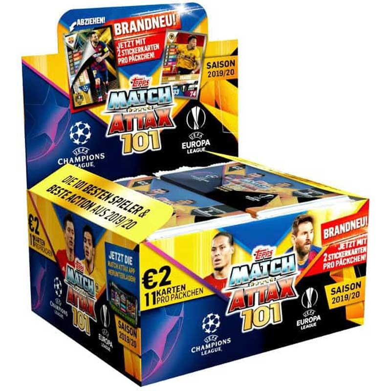 Hel Box (24 Paket) - 2019-20 Match Attax 101 (Champions League & Europa League)