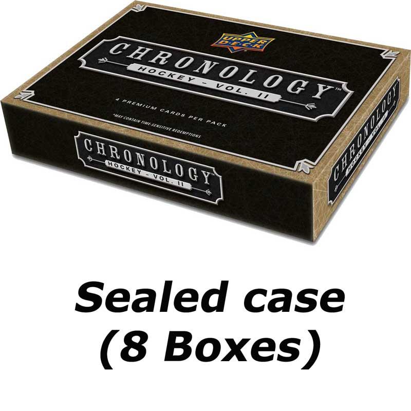 Sealed Case (8 Boxes) 2019-20 Upper Deck Chronology Volume II Hobby