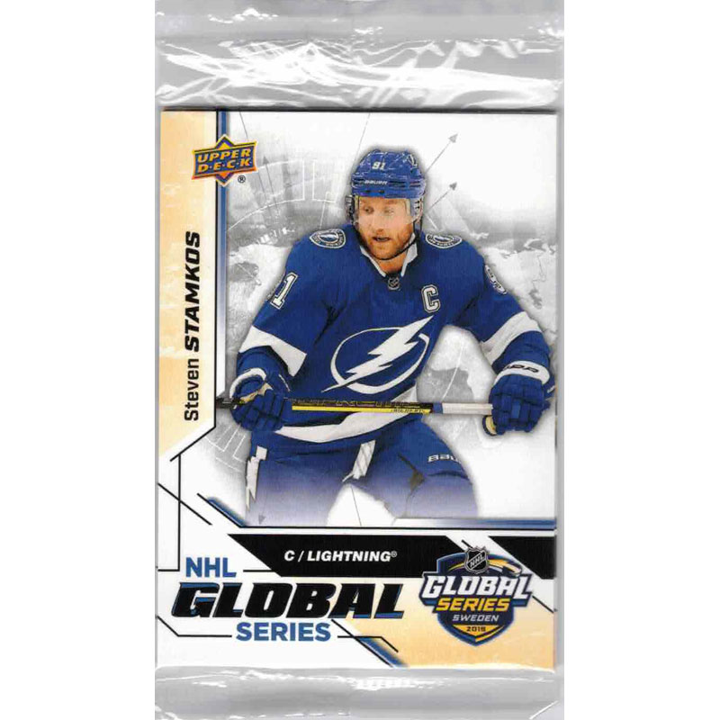 1 Pack (cello pack) 2019-20 Upper Deck MVP Global Series (From Global Series Blaster)