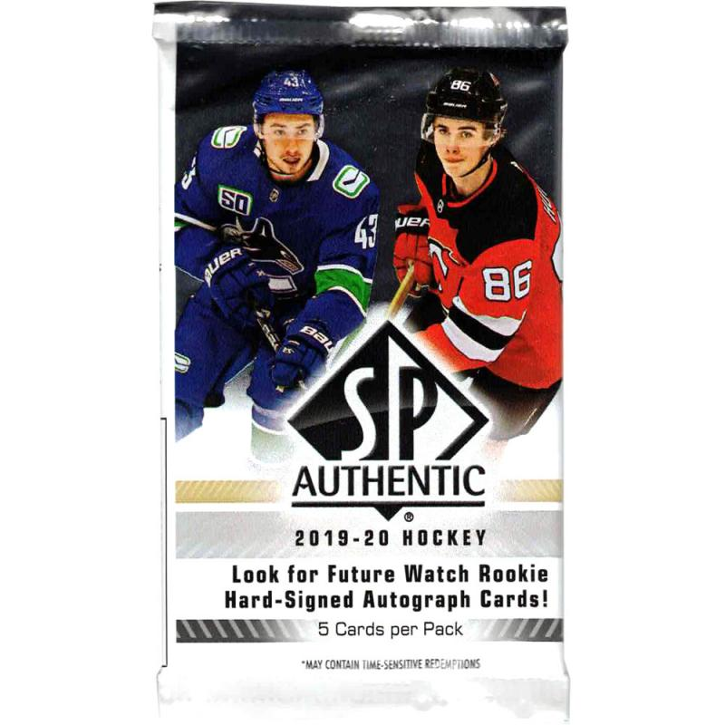 1st Paket 2019-20 Upper Deck SP Authentic Hobby