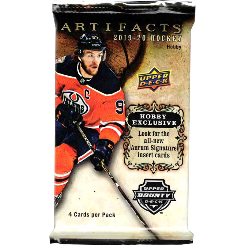 1 Pack 2019-20 Upper Deck Artifacts Hobby