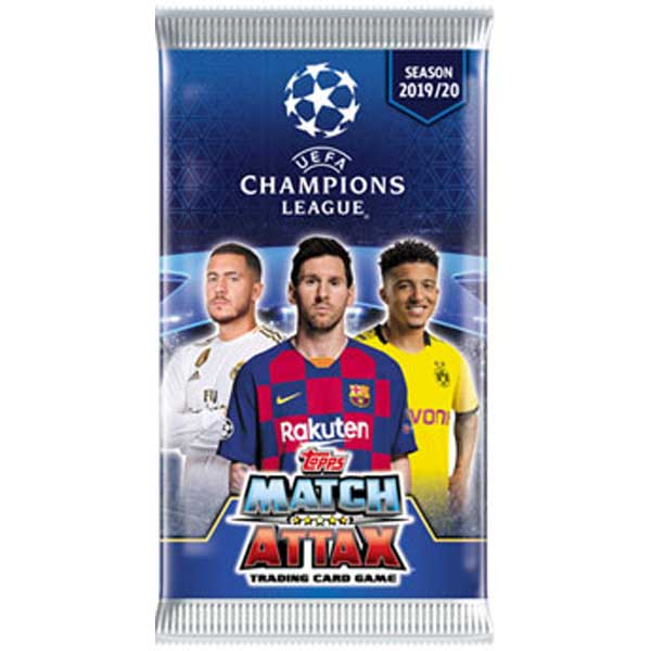 1 Pack (6 cards) 2019-20 Topps Match Attax Champions League