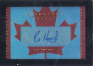Bo Horvat - 2015-16 Panini Anthology Home and Native Land Signatures #4 /299