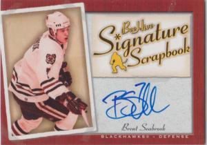 Brent Seabrook - 2005-06 Beehive Signature Scrapbook #SSSE