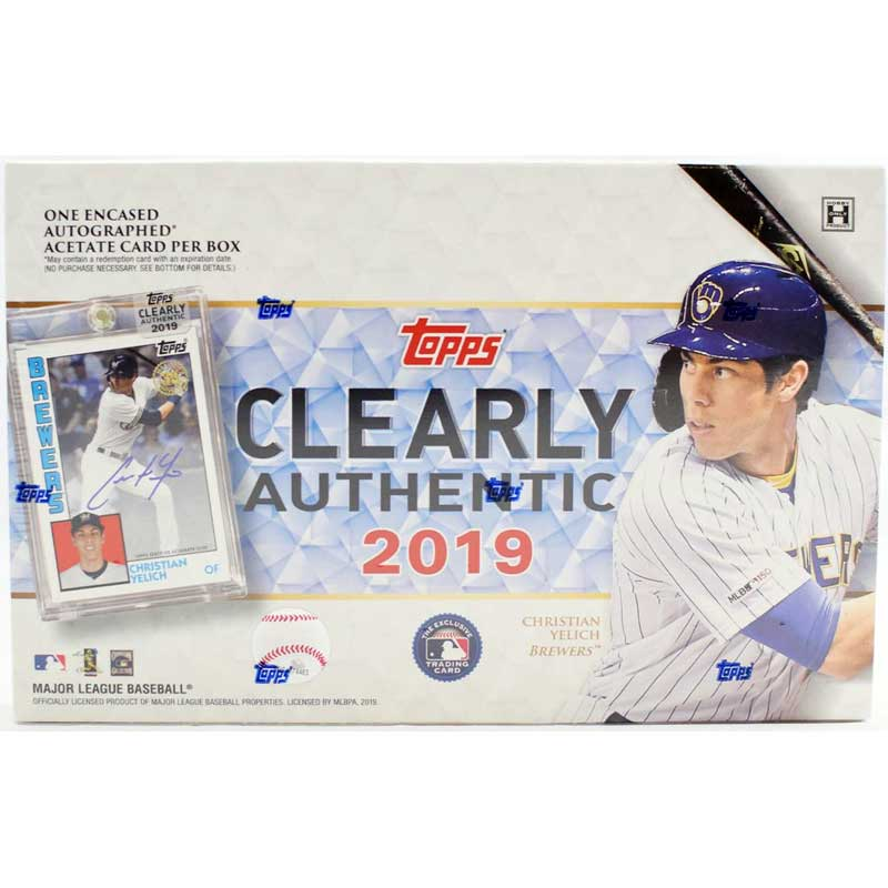 Hel Box 2019 Topps Clearly Authentic Baseball Hobby