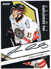 2009-10 SHL Limited Signatures s.2 #5 Jonas Almtorp Luleå HC /25
