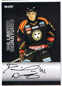 2008-09 SHL Limited Signatures s.2 #1 Daniel Widing Brynäs IF /25
