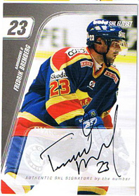 2007-08 SHL Signed by the numbers s.2 #2 Fredrik Bremberg Djurgårdens IF /23
