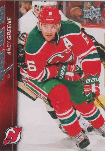 the best attitude 0b19d fc9c7 Andy Greene 2015-16 Upper Deck #112 - New Jersey Devils