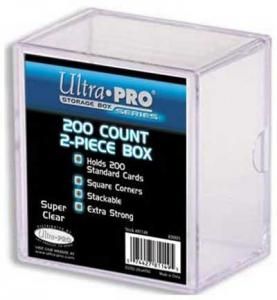 2 piece plastic box, Suiting for 200 regular cards