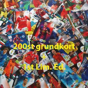 200st Blandade fotbollskort (grundkort)