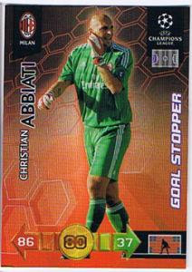 Goal Stopper, 2010-11 Adrenalyn Champions League, Christian Abbiati