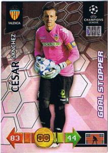 Goal Stopper, 2010-11 Adrenalyn Champions League, Cesar Sanchez