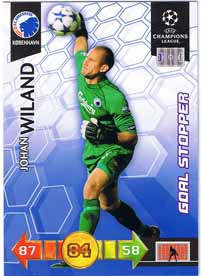 Goal Stoppers 2010-11 Adrenalyn Champions League Update, Johan Wiland