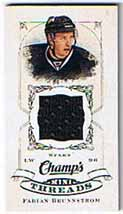 Fabian Brunnström 2008-09 Upper Deck Champs Mini Threads #CTFB