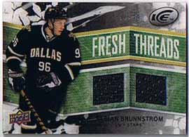 Fabian Brunnström 2008-09 Upper Deck Ice Fresh Threads Black Parallel #FTFB /25