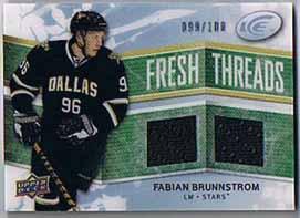 Fabian Brunnström 2008-09 Upper Deck Ice Fresh Threads Parallel #FTFB /100