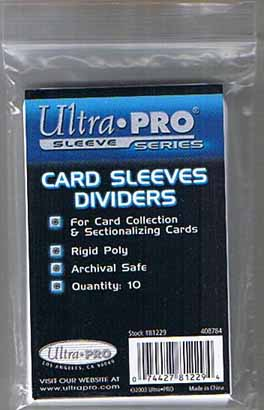 Card Sleeves Dividers, 10 Pack