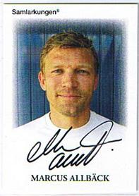 Samlarkungens football signatures #4 Marcus Allbäck /50
