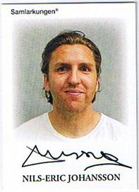 Samlarkungens fotbollsautografer #07 Nils-Eric Johansson /50
