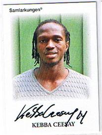 Samlarkungens football signatures #14 Kebba Ceesay /50