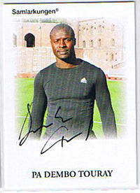 Samlarkungens fotbollsautografer #15 Pa Dembo Touray /50