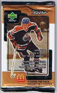 1 Pack 1999-00 Upper Deck McDonalds Retro