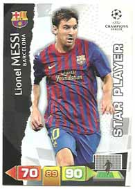 Star Player, 2011-12 Adrenalyn Champions League, Lionel Messi