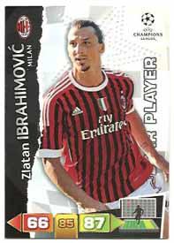 Star Player, 2011-12 Adrenalyn Champions League, Zlatan Ibrahimovic