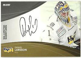 2011-12 SHL s.1 Limited Signatures #4 Daniel Larsson HV71 /25