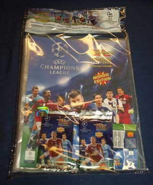 1st Startpaket, Panini Adrenalyn XL Champions League 2011-12 Nordic Edition