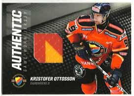 2010-11 SHL Jersey s.1 #3 Kristofer Ottosson Djurgårdens IF (Red/ Yellow)
