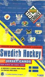 Sealed box 1998-99 UD Swedish SHL Elitserien