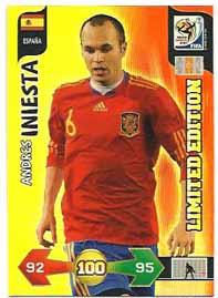 Limited Edition, 2010 Adrenalyn VM, Andres Iniesta