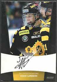 2010-11 SHL s.1 Limited Signatures #4 Adam Larsson Skellefteå AIK /25