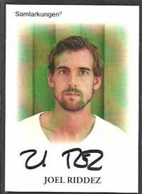 Samlarkungens football signatures #17 Joel Riddez /50