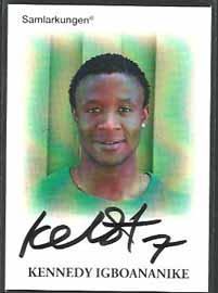 Samlarkungens fotbollsautografer #20 Kennedy Igboananike /50
