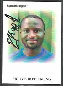 Samlarkungens fotbollsautografer #24 Prince Ikpe Ekong /50