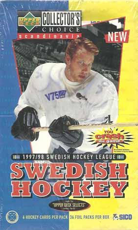 Sealed Box 1997-98 UD SHL - Swedish Hockey