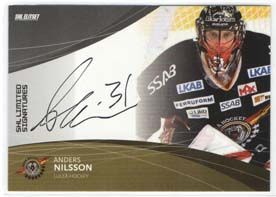 2011-12 SHL s.1 Limited Signatures #7 Anders Nilsson Luleå /25