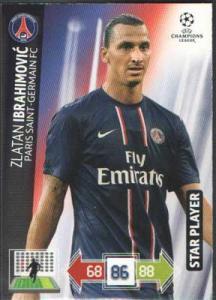 Star Player, 2012-13 Adrenalyn Champions League, Zlatan Ibrahimovic
