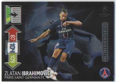 Limited Edition, 2012-13 Adrenalyn Champions League, Zlatan Ibrahimovic