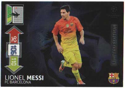 Limited Edition, 2012-13 Adrenalyn Champions League, Lionel Messi